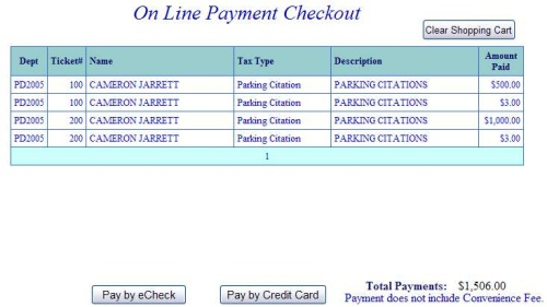 How Do I Use the Pay Parking Citation Web Application?